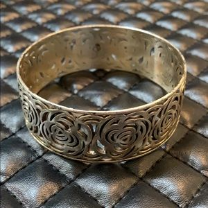 Brighton Silver Montana Rose Cut Out Bracelet